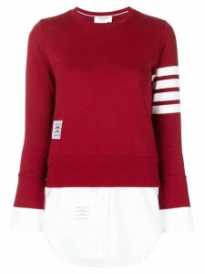 Thom Browne 4-Bar Loopback Jersey Sweatshirt - Red