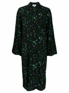 GANNI floral print shirt dress - Black