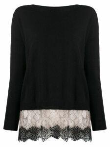 Blumarine knitted jumper - Black