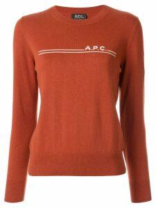 A.P.C. Eponymous logo jumper - Brown