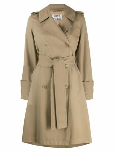 Acne Studios belted trench coat - Neutrals