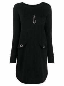 Love Moschino long-sleeve shift dress - Black