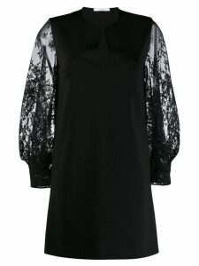 Givenchy floral lace sleeved dress - Black