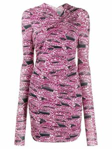 Isabel Marant printed ruched dress - PINK