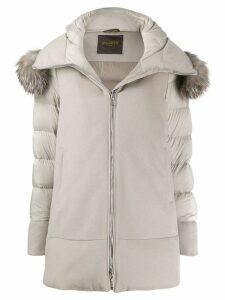 Moorer Leno Mandorla coat - Neutrals