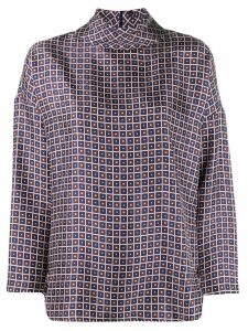 Alberto Biani geometric print blouse - Black
