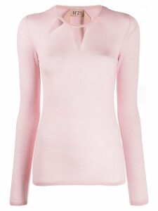 Nº21 sheer detail knitted sweater - Pink