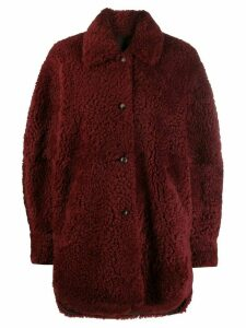 Isabel Marant Sarvey shearling coat - Red