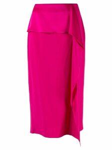 Rochas ruffled midi skirt - Pink