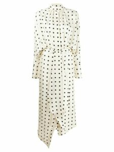 Petar Petrov polka dot midi dress - White