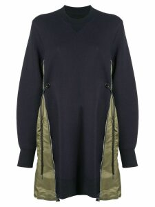Sacai sweatshirt dress - Blue