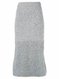 Tibi high-waisted knit skirt - Black