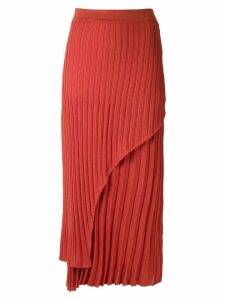 Alcaçuz pleated knit Nubia skirt - Orange