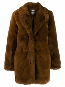 Apparis oversized faux-fur coat - Brown
