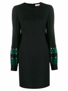 Tory Burch embellished jersey shift dress - Black