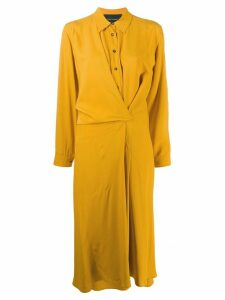 Cédric Charlier shirt midi dress - Yellow