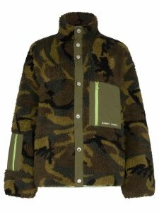 Sandy Liang Rory camouflage fleece jacket - Brown