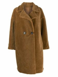 Liska double breasted shearling coat - Brown
