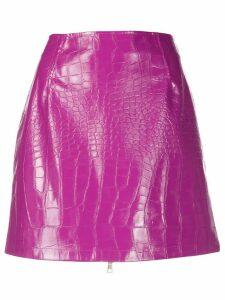 Pinko crocodile effect skirt