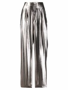 Indress metallic wide-leg trousers - SILVER