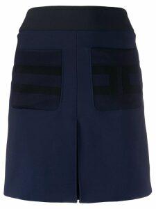Elisabetta Franchi patch pocket mini skirt - Blue