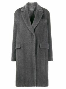 Alberta Ferretti single-breasted coat - Grey
