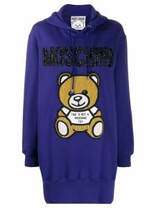 Moschino beaded Teddy Bear hoodie dress - Purple
