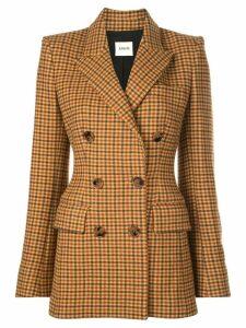 Khaite fitted gingham blazer - Brown