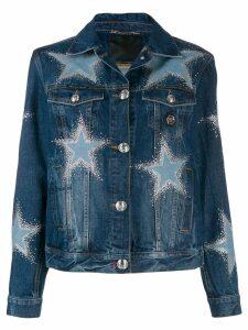 Philipp Plein Crystal Star denim jacket - Blue