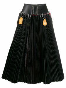 Chopova Lowena A-line belted skirt - Black