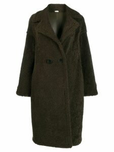 Liska reversible double breasted coat - Green