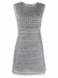 Alberta Ferretti knitted mini dress - Grey