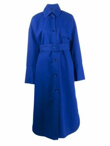 Christian Wijnants belted Caja coat - Blue
