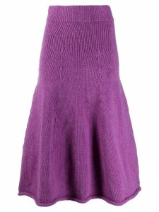 Christian Wijnants Kuna knitted full skirt - Purple