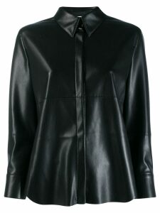 Nanushka faux-leather shirt - Black