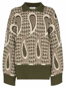 JW Anderson paisley wool jumper - Green