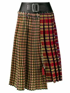 Chopova Lowena pleated midi skirt - Yellow