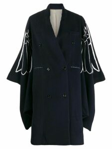 Golden Goose wings print oversized coat - Blue