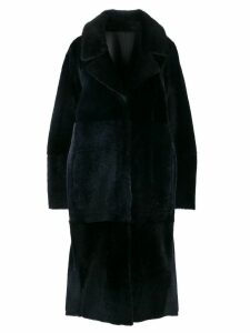 Drome single breasted coat - Blue