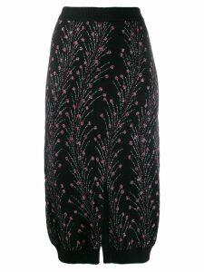 Marco De Vincenzo floral embroidered skirt - Black