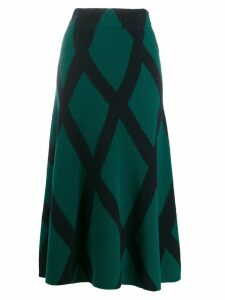Christian Wijnants Kosara midi skirt - Blue