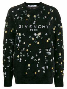 Givenchy floral textured jumper - Black