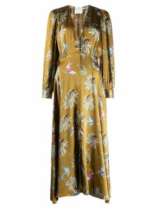 Forte Forte satin printed dress - Green