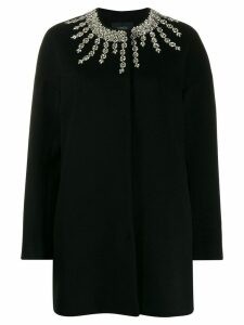 Giambattista Valli oversized crystal-embellished coat - Black