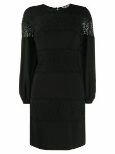 Twin-Set lace panel a-line dress - Black