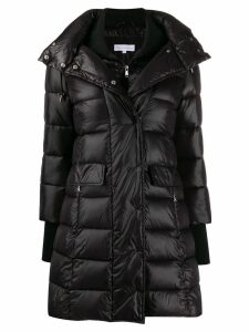 Patrizia Pepe thumb-hole padded coat - Black