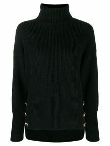 Elisabetta Franchi button detail jumper - Black