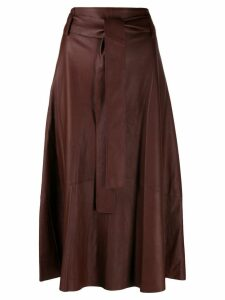 Vince tie waist midi skirt - Brown