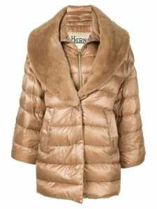 Herno double layer padded coat - Brown