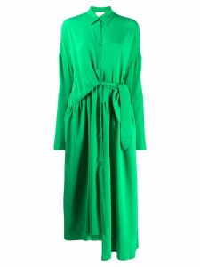 Christian Wijnants dani draped shirt dress - Green